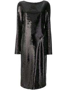 платье в пайетки с глубоким вырезом на спине Tom Ford