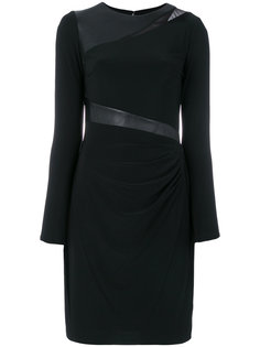платье с длинными рукавами и драпировкой Ralph Lauren