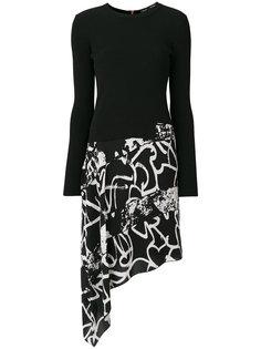 платье с асимметричным подолом с принтом Proenza Schouler