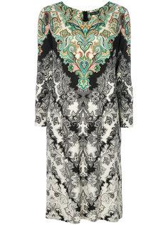 платье с принтом и длинными рукавами  Etro