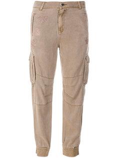 зауженные брюки со стразами Twin-Set