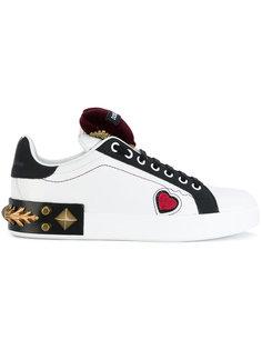 кроссовки на шнуровке с заклепками Dolce & Gabbana