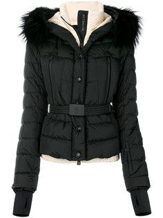 куртка-пуховик с меховой отделкой Moncler Grenoble
