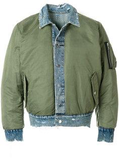 джинсовая куртка бомбер Amiri