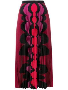 плиссированная юбка макси с принтом Mary Katrantzou