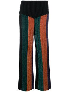 расклешенные брюки в полоску  Circus Hotel