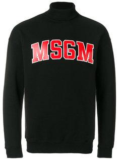 толстовка с высокой горловиной и логотипом MSGM