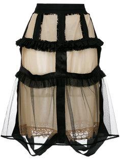 юбка с прозрачным наслоением Maison Margiela