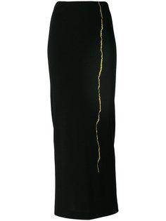 юбка с золотистой вышивкой Haider Ackermann