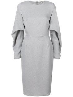 приталенное платье с поясом Edeline Lee
