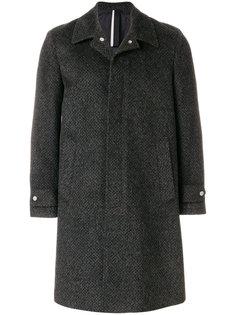однобортное пальто Low Brand