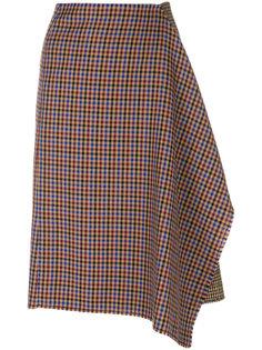асимметричная юбка в ломаную клетку Golden Goose Deluxe Brand