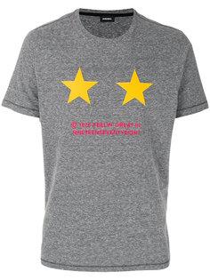 футболка с принтом звезд Diesel