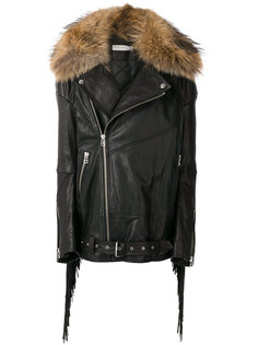 jacket with fringe and racoon fur collar Faith Connexion