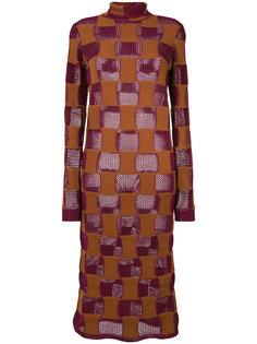 платье с высоким воротом Marni