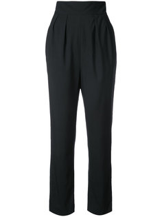 high waisted cropped trousers Monique Lhuillier