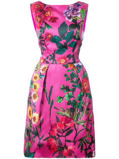 floral structured dress Monique Lhuillier