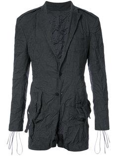 пиджак с мятым эффектом D.Gnak