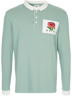футболка-поло с принтом цветка на заплатке Kent & Curwen