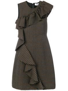 приталенное платье с оборками MSGM