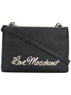 сумка на плечо с бляшкой-логотипом Love Moschino