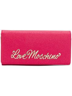 кошелек с бляшкой-логотипом Love Moschino