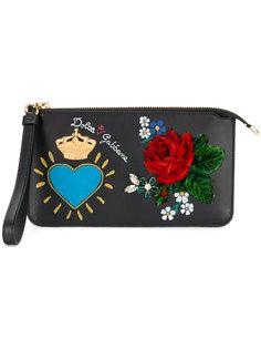 клатч с аппликациями Dolce & Gabbana