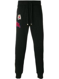 спортивные брюки с заплаткой Prince  Dolce & Gabbana