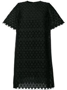 расклешенное платье с вышивкой  Muveil