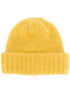 шапка-бини с отделкой в рубчик Laneus