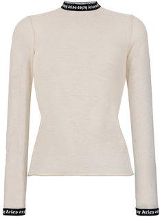 блузка с контрастной горловиной Aries