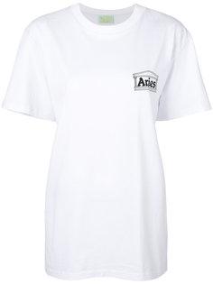 футболка с принтом логотипом Aries