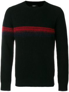 свитер с контрастной полосой Nº21