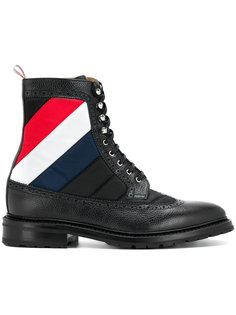 стеганые ботинки в полоску Thom Browne