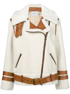 контрастная байкерская куртка  Forte Couture