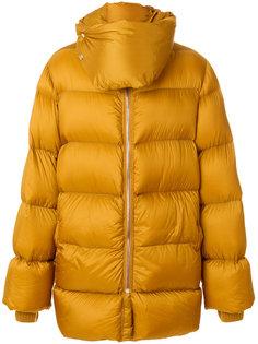 стеганое пальто свободного кроя Rick Owens