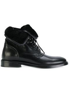 ботинки с отделкой из овчины Dolce & Gabbana