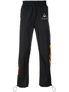 спортивные брюки с принтом языков пламени Palm Angels