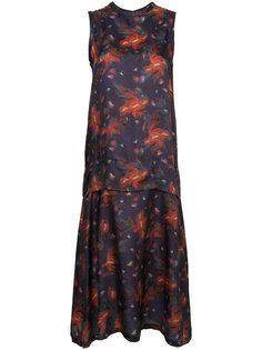 расклешенное платье с вышивкой  Toga Pulla