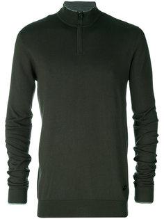 свитер с воротником на молнии Armani Jeans