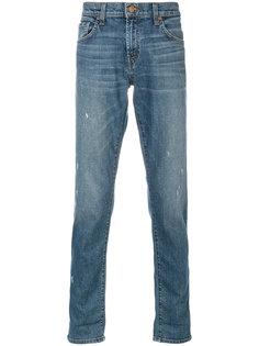 узкие джинсы с потертостями J Brand