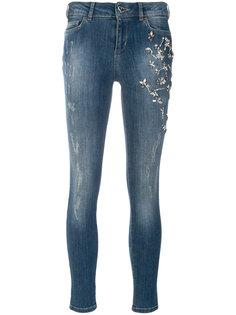 джинсы скинни с отделкой пайетками  Twin-Set