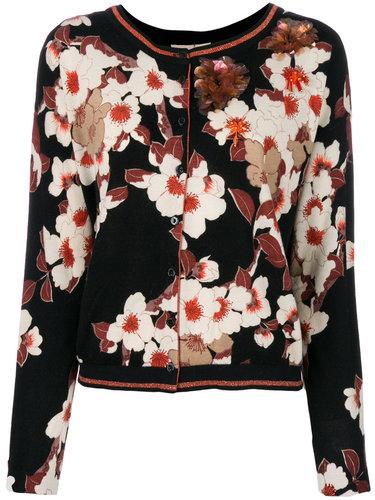 кардиган с цветочным узором и пайетками  Twin-Set