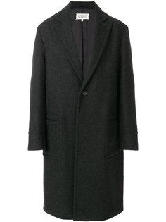 однобортное пальто Maison Margiela