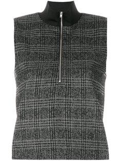 свитер в клетку на молнии  Wood Wood