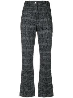 укороченные брюки в клетку  Wood Wood