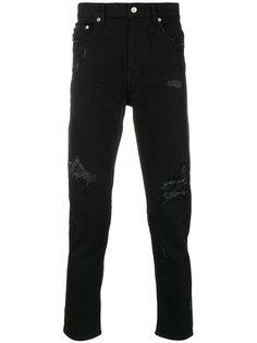 брюки скинни с потертой отделкой Love Moschino
