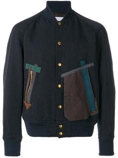 куртка-бомбер с накладными карманами Kolor