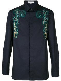 рубашка с вышивкой в стиле барокко Versace Collection
