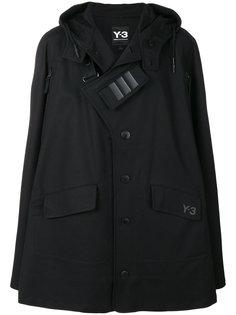 пальто-кейп асимметричного кроя Y-3